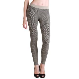 Nikibiki Women's 3-tone Weave Ankle Length Leggings (Option: Tan)