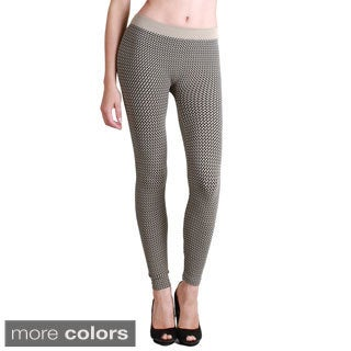 Nikibiki Women's 3-tone Weave Ankle Length Leggings