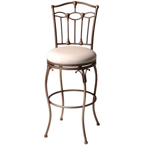 Fashion Home Concord 45 Inch Ivory Upholstered Metal Bar Stool Free Shippin