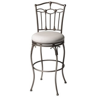 Fashion Home Concord 45-inch Ivory Upholstered Metal Bar Stool