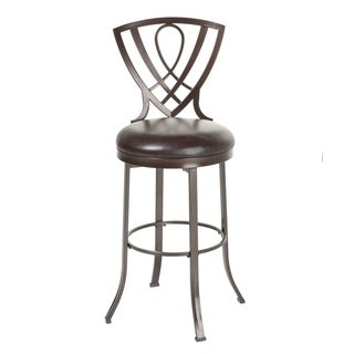 Lincoln Metal Bar or Counter Stool with Padded Swivel-Seat