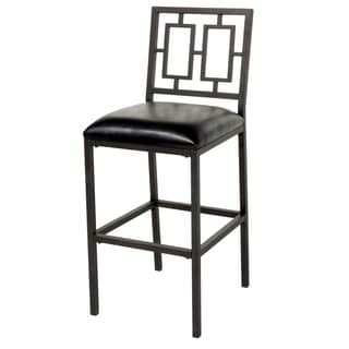 Fashion Home Lansing Black Upholstered Bar Stool