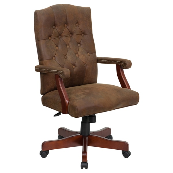 Shop Offex Bomber Brown Classic Executive Office Chair