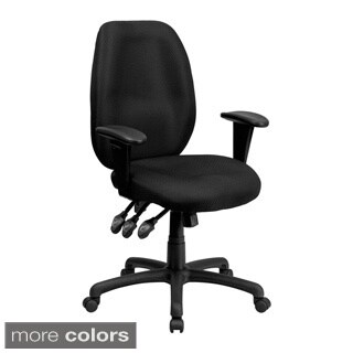 Offex High Back Fabric Multi-Functional Ergonomic Task Chair with Arms