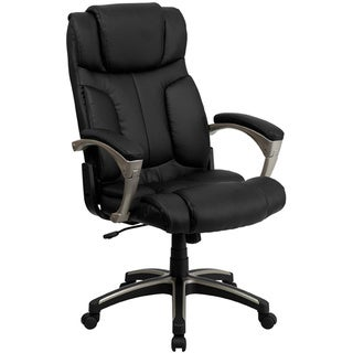 Offex High Back Folding Black Leather Executive Office Chair