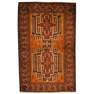 Herat Oriental Afghan Hand-knotted 1960s Semi-antique Tribal Balouchi Wool Rug (2'9 x 4')