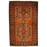 Handmade Herat Oriental Afghan 1960s Semi-antique Tribal Balouchi Wool Rug - 2'9 x 4' (Afghanistan)