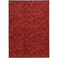 Tribal Ikat Red/ Orange Rug