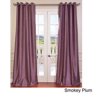 Exclusive Fabrics Textured Dupioni Faux Silk 96-inch Blackout Grommet Curtain Panel