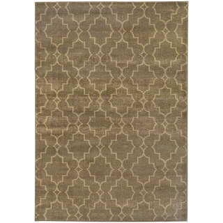 Scalloped Lattice Grey/ Beige Rug (9'10 X 12'10)