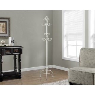 Antique White Metal 72-inch Coat Rack