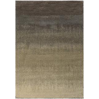 Ombre Shag Grey/ Beige Rug (6'7 X 9'6)