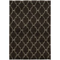 Scalloped Lattice Shag Midnight/ Grey Rug - 6'7 x 9'6