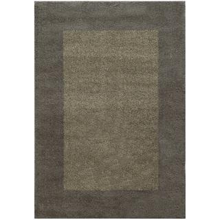 Two-tone Border Shag Grey/ Beige Rug (6'7 X 9'6)