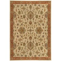 Traditional Floral Beige/ Rust Rug