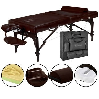 Master Masage Supreme LX 31-inch Portable Massage Table Package with Face Port