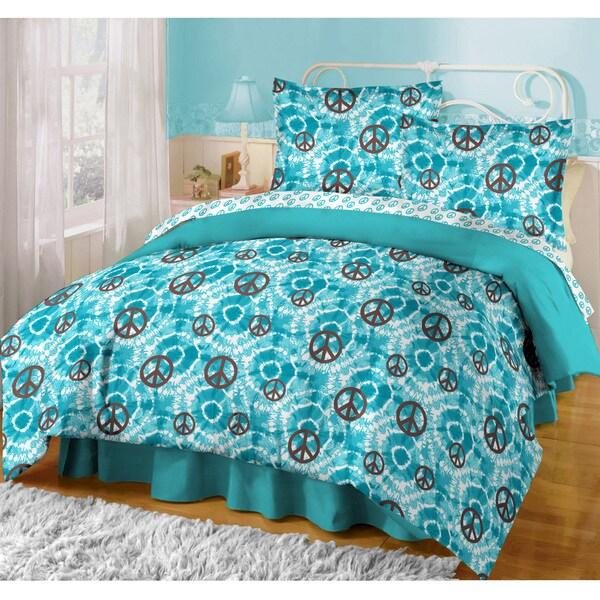 Shop Tye Dye Peace 8 Piece Comforter Set Free Shipping
