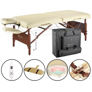 Master Massage Heated Top 30-inch Del Ray Massage Table Package