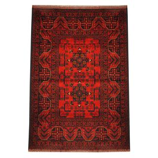 Herat Oriental Semi-antique Afghan Hand-knotted Tribal Balouchi Rust/ Navy Wool Rug (3'3 x 4'9)