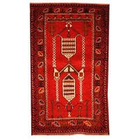 Herat Oriental Afghan Hand-knotted 1960s Semi-antique Tribal Balouchi Wool Rug (2'10 x 4'9) - 2'10 x 4'9