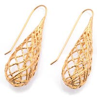 De Buman Yellow Gold Plated, Rose Gold Plated Or Black Rhodium Plated Earrings