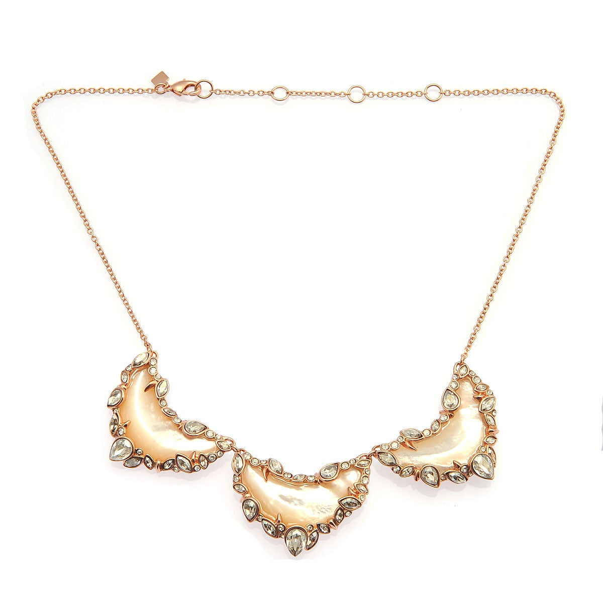 De Buman 18K Yellow Gold Plated or 18K Rose Gold Plated Mother-of-Pearl Necklace