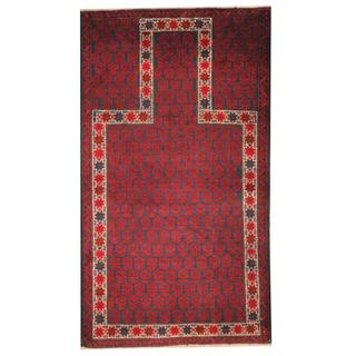 Herat Oriental Afghan Hand-knotted 1950s Semi-antique Tribal Balouchi Wool Rug (2'9 x 4'10)