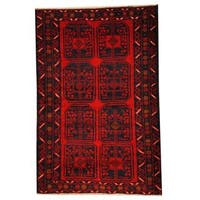 Herat Oriental Afghan Hand-knotted 1950s Semi-antique Tribal Balouchi Wool Rug (2'11 x 4'5) - 2'11 x 4'5