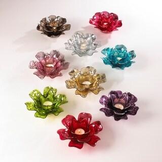 Flower Design Votive Holder (set of 2)