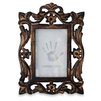 Handmade Mughal Grandeur Mango Wood Photo Frame - 4' x 6' (India)