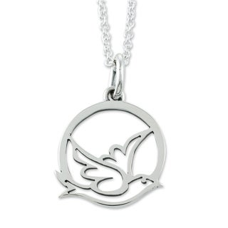 Handcrafted Sterling Silver 'Gentle Dove' Necklace (Mexico)