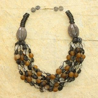 Handcrafted Recycled Glass Ceramic 'Deka' Torsade Necklace (Ghana)|https://ak1.ostkcdn.com/images/products/9745635/P16919138.jpg?impolicy=medium