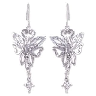Handcrafted Sterling Silver 'Fairies' Earrings (Mexico)
