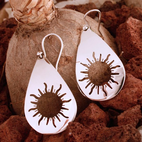 Handcrafted Sterling Silver 'Sun Drops' Earrings (Mexico)