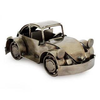Handcrafted Iron 'Rustic Vintage Car' Sculpture (Mexico)