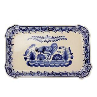 Handmade Majolica Ceramic 'Colonial Rooster' Plate (Mexico)
