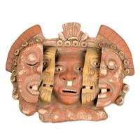 Handmade Ceramic 'Three Ages of Man' Mask (Mexico)