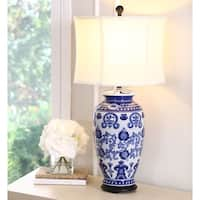 Abbyson Hand-painted Asian Blue 28-inch Table Lamp