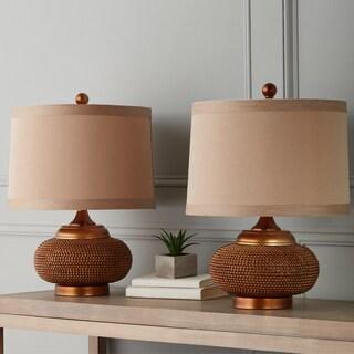 Abbyson Monaco Gold Beaded Lamp (Set of 2)