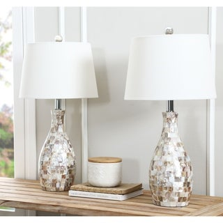 Abbyson Mother of Pearl Table Lamp (Set of 2)