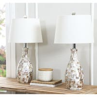 Abbyson Mother of Pearl 22-inch Table Lamp (Set of 2)