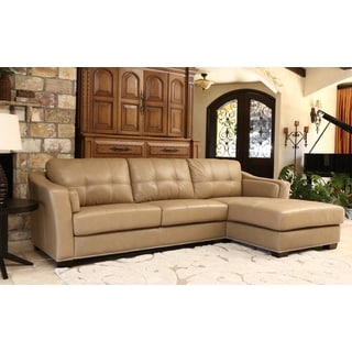 ABBYSON LIVING Ariella Top Grain Leather Sectional
