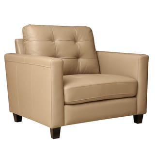 Abbyson Living Leona Stone Beige Top Grain Leather Sofa And Loveseat Reviews Deals Prices