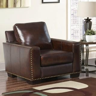 Abbyson Barrington Top Grain Leather Armchair
