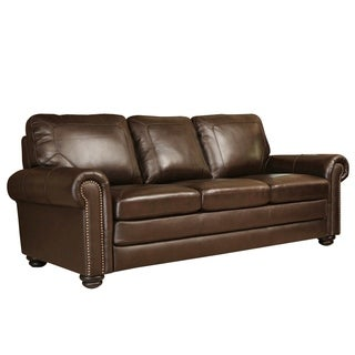 ABBYSON LIVING Bradford Top Grain Leather Sofa