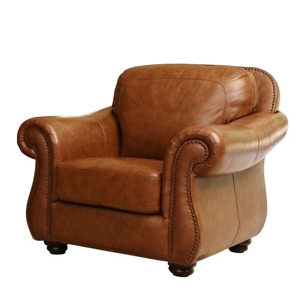 Abbyson Arizona Top Grain Leather Armchair