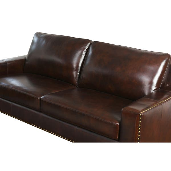 Swell Shop Abbyson Barrington Top Grain Leather Sofa On Sale Pabps2019 Chair Design Images Pabps2019Com