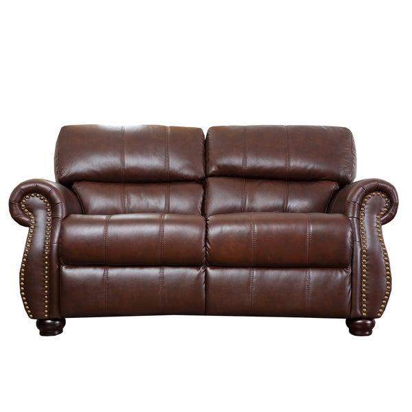 Abbyson Ashley Premium Top Grain Leather Loveseat Free
