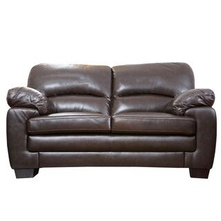 Abbyson Charleston Premium Top-grain Leather Loveseat