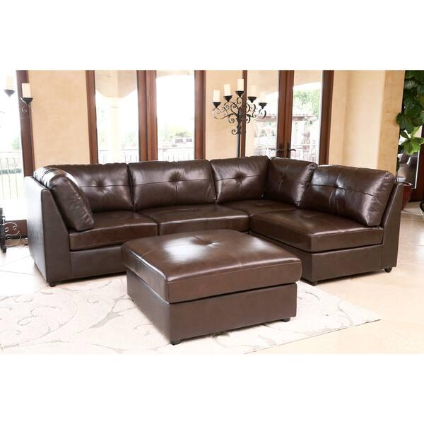 Prime Shop Abbyson Living Cameron Top Grain Leather 5 Piece Unemploymentrelief Wooden Chair Designs For Living Room Unemploymentrelieforg